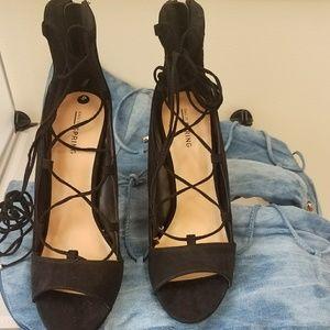 SEXY Black Heel Tie Up Sandal